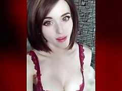 Cute girl shows her tits (busty, beautiful face, hot ass)
