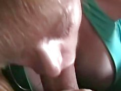 Mature amateur drools over hard cock