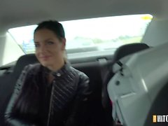 Busty Alex enjoyed a break at a country cottage.