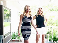 Mia Malkova's First Ever Vid With Busty MILF VIcky Vette!