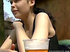 Sweet amateur teen libuse from czech streets enticed in sucking