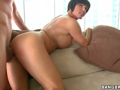Big assed Shay Fox tries her lover's sausage plugged deep in from her back