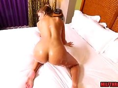 Hot milf casting and cumshot