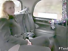 Blonde with big tits fucks a sleazy taxi driver