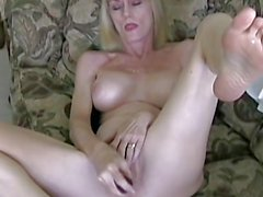 Mature blonde amateur loves studs cock