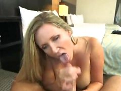 Big tits milf casting with cum on face