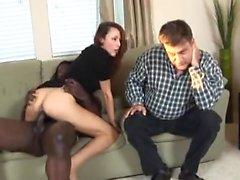 Hubby watches his wife get fucked - More On HDMilfCam,com