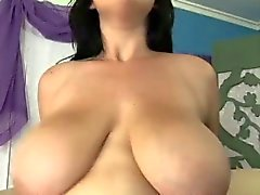 Busty Brunette Filled With His Cock