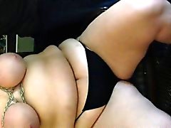 Bbw tied tits and tit spank Bernetta from 1fuckdatecom