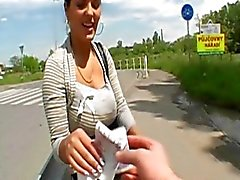 Big Boobs Czech fucked Under the Street