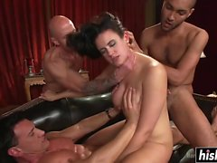 Penny gets her holes double penetrated