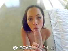 POVD Busty topless fruit eater Karissa Kane fucked POV style