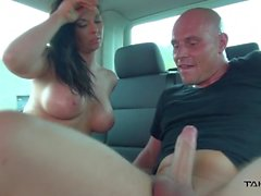 Takevan - Busty big muscle Milf found running on the street and fucked