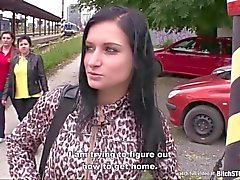 Bitch STOP - Busty teen Nikola fucked outdoor