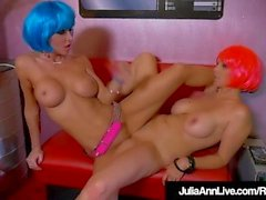 Funky Android Milfs Julia Ann & Jessica Jaymes Scissor Fuck!