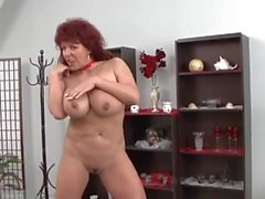 Sexy german Mature Redhead Shows Her Huge Tits
