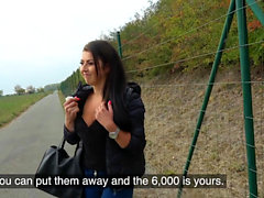 Public Agent Tight busty minx Czech pussy fucked