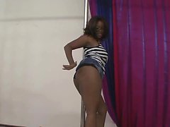 Roxie Ray is an ebony girl with huge titties