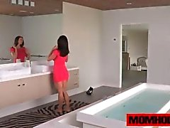 MILF Kendra Lust pleasing herself in the bathtub