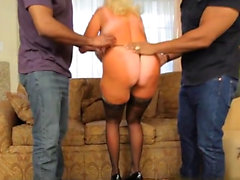 Big tits milf interracial with creampie