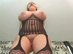 Busty BBW banged in lingerie