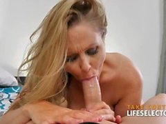 Hot one-on-one session with Julia Ann POV style