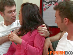 Punishbox - Eva gets taught how to take 2 wood