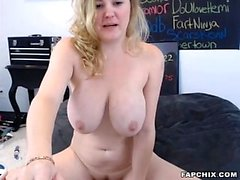 Gorgeous Big Tits Chick Fucks Herself With Sex Toy