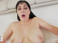 JAY'S POV - Busty Milf Allesandra Snow Gets Creampied by Pervy Photographer
