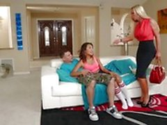 Babysitter Alina Li fucks her man with Nikki Benz