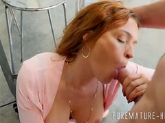 Horny MILF loves a big cock in her pretty ass