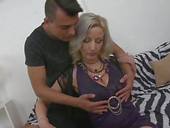 Beautiful busty mom gets taboo sex from son