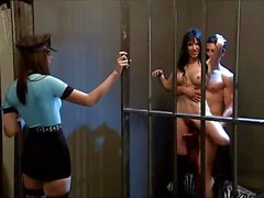Hostess cop tawny leads the foursome into jail