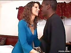 White wife fucks black step son