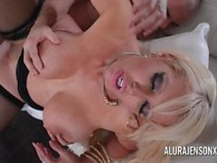 Kinky Busty blonde Alura Jenson loves a man in uniform