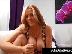 Smoking Hot Cougar Julia Ann Sucks & Strokes POV Cock!