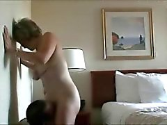 Amateur Granny Rubbing Her Pussy on his Face