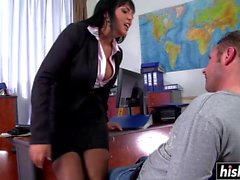 Jasmine Black gets fucked while wearing stockings