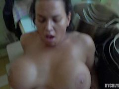 chef whith huge natural tits and big pussy