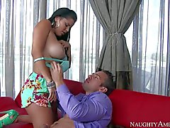 Busty salsa teacher Diamond Kitty gets fucked