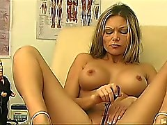 Pretty german Ana's pretty little schnitzel got wet at the