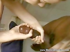 Interracial Shower Handjob Taboo