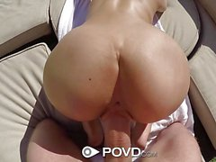 Poolside rub down fuck with asian Jade Kush
