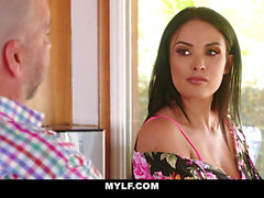 MYLF - marvelous French milf deep throats Off Her Hot Stepson