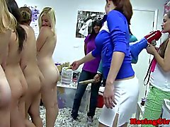 Group of naked lesbo teen coeds hazed in HD