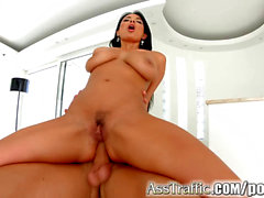 AssTraffic huge-titted exotic babe gets her ass torn up rigid