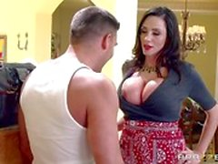 Hot MILF Ariella Ferrera takes the focus from her daughter