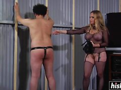 Aiden Starr likes to spank her slave