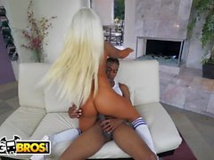 BANGBROS - Brandi Bae Uses Her Sweet Big Tits and Big Ass To Get A BBC
