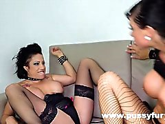 Gigi Love and Suhaila Hard, in a hot big boobs lesbian video